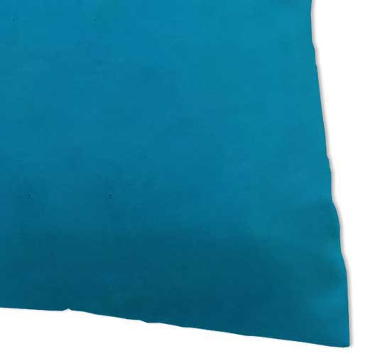 Percale Pillow Case - Turquoise Woven