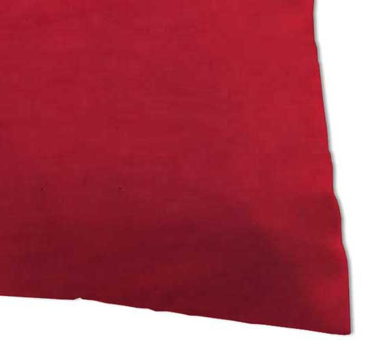 Percale Pillow Case - Solid Red Woven