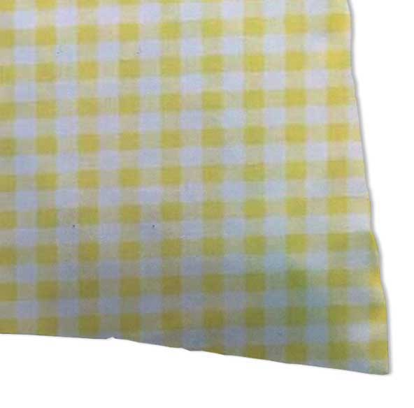 Twin Pillow Case - Yellow Gingham Jersey