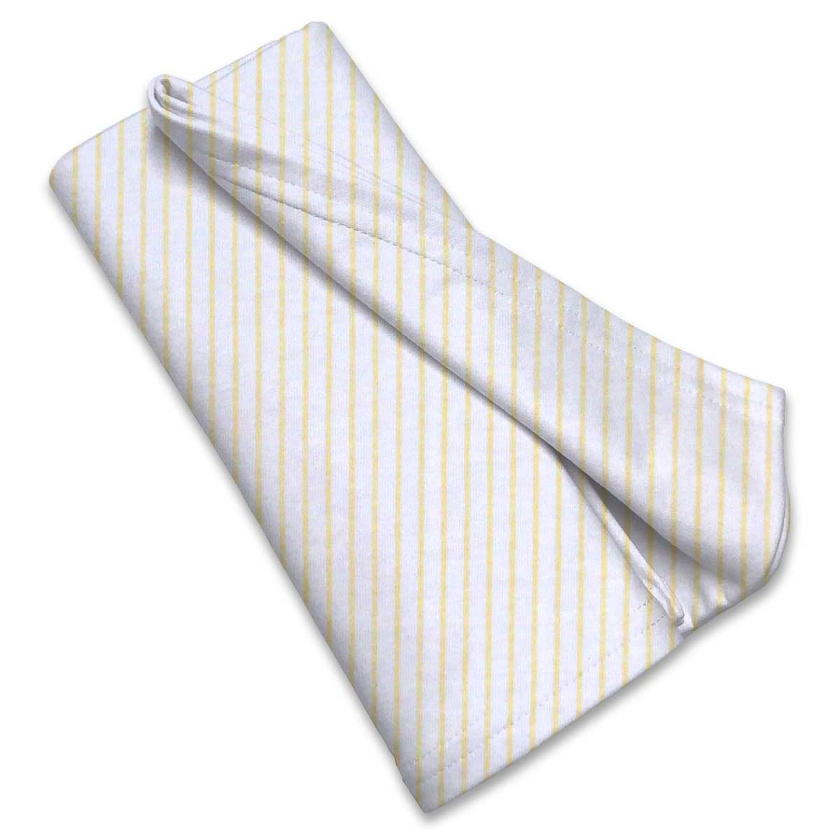 Yellow Stripes Jersey Knit Portable Mini Crib Sheets