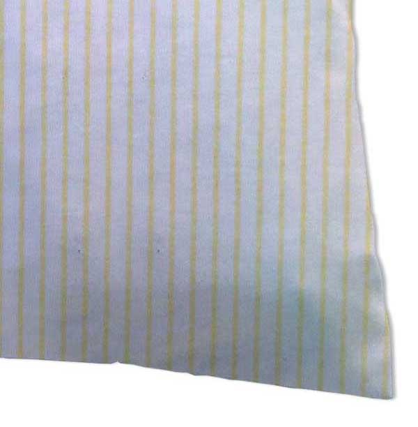 Twin Pillow Case - Yellow Stripes Jersey Knit