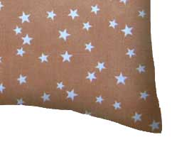Percale Pillow Cases - Cloudy Stars Camel