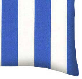 Percale Pillow Case - Royal Blue Stripe