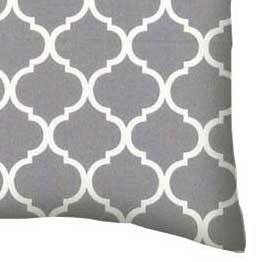 Percale Pillow Case - Grey Large Quatrefoil