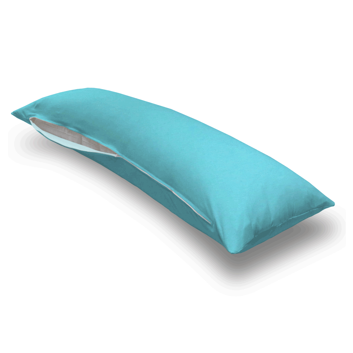Solid Aqua Jersey Knit Body Pillow Case