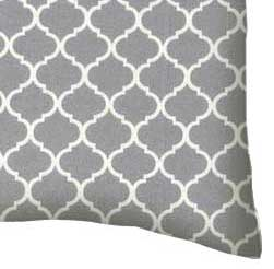 Percale Pillow Case - Grey Quatrefoil