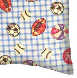 Flannel Pillow Case - Sports Blue Grid