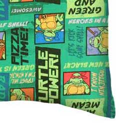 Percale Pillow Case - Ninja Turtles Pizza Time