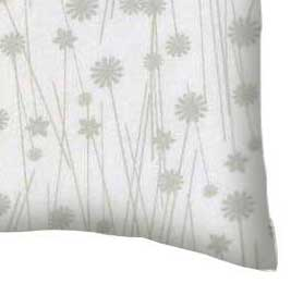 Percale Pillow Case - Grey Floral Stems