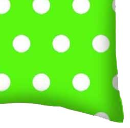 Percale Pillow Case - Polka Dots Lime