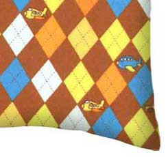 Flannel Pillow Case - Rocket Ships Blue