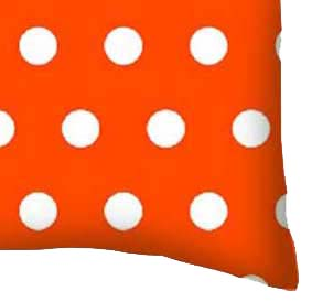 Percale Pillow Case - Polka Dots Orange