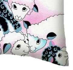 Percale Pillow Case - Colorful Sheep