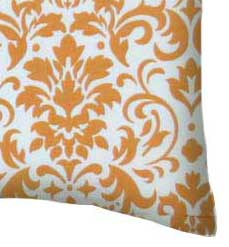 Percale Pillow Case - Gold Damask