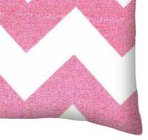 Percale Pillow Case - Sparkly Pink Chevron
