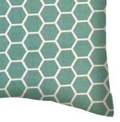 Percale Pillow Case - Seafoam Blue Honeycomb