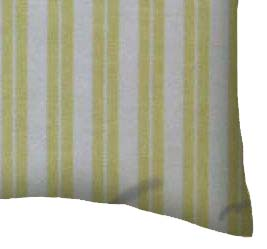 Percale Pillow Case - Yellow Dual Stripe
