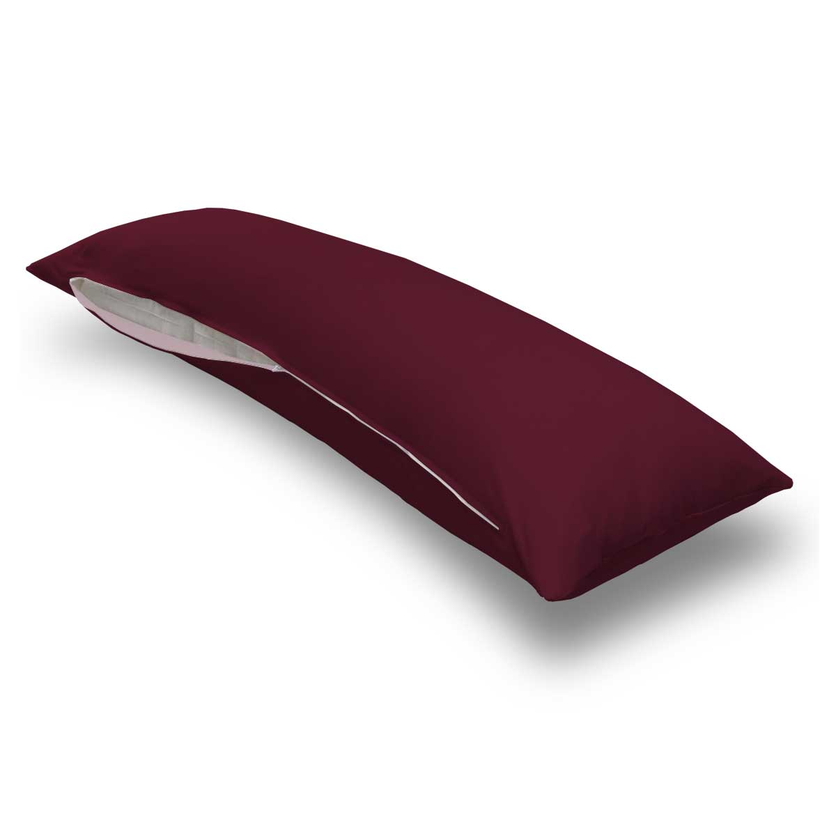 Solid Burgundy Jersey Knit Body Pillow Case