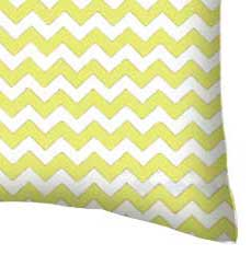 Percale Pillow Case - Yellow Chevron Zigzag