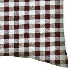 Percale Pillow Case - Brown Gingham Check