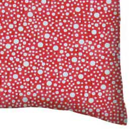 Percale Pillow Case - Confetti Dots Red
