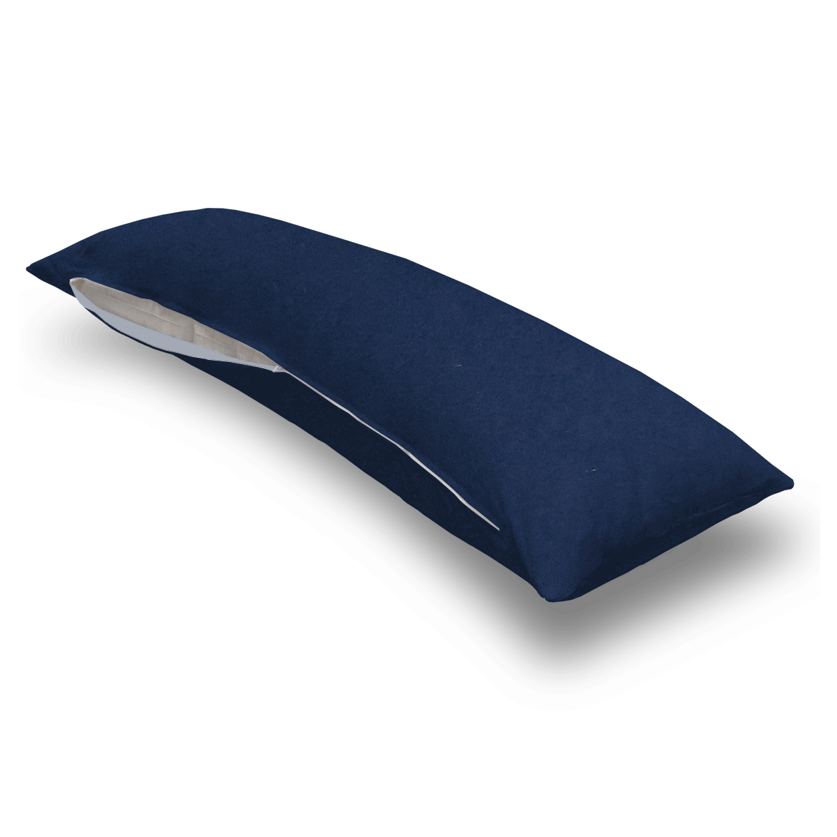 Solid Navy Jersey Knit Body Pillow Case