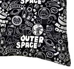 Percale Pillow Case - Monkeys Outer Space