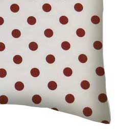 Percale Pillow Case - Burgundy Polka Dots
