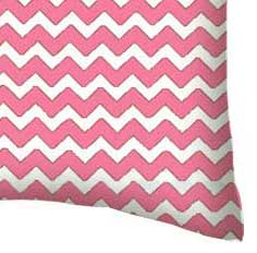 Percale Pillow Case - Bubble Gum Pink Chevron Zigzag