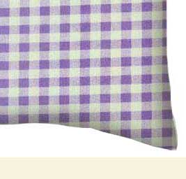 Percale Pillow Case - Lavender Gingham Check