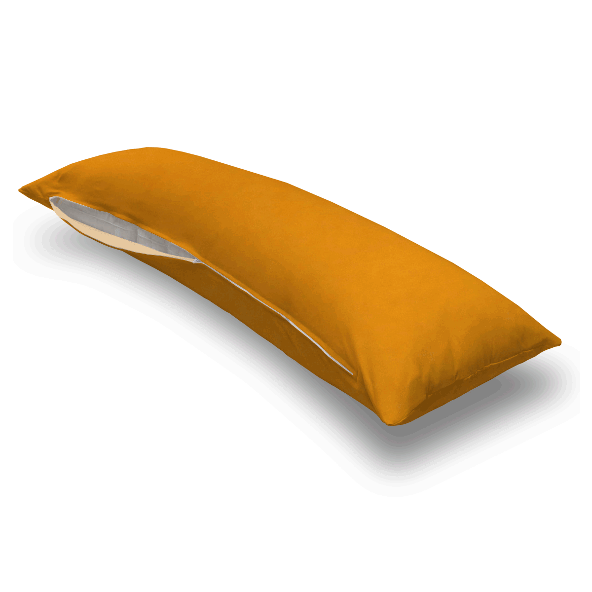 Orange Sherbert Jersey Knit Body Pillow Case