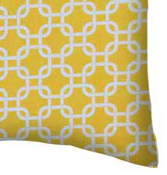 Percale Pillow Case - Lemon Yellow Links