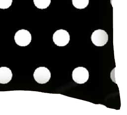 Percale Pillow Case - Polka Dots Black