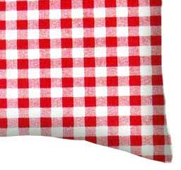 Percale Pillow Case - Red Gingham Check