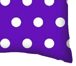 Percale Pillow Case - Polka Dots Purple