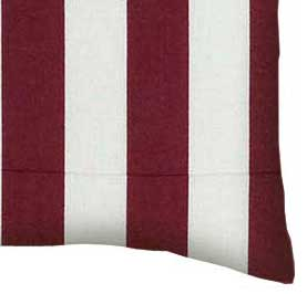 Percale Pillow Case - Burgundy Stripe