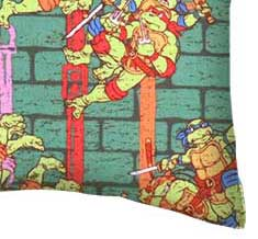 Percale Pillow Case - Ninja Turtles Power