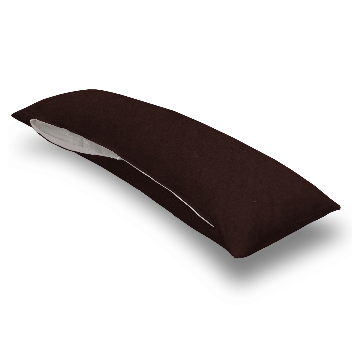 Solid Brown Jersey Knit Body Pillow Case
