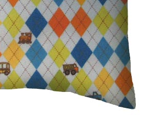 Flannel Pillow Case - Argyle Transport Blue