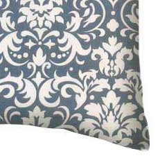 Percale Pillow Case - Grey Damask