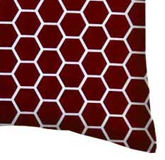Percale Pillow Case - Burgundy Honeycomb