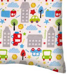 Percale Pillow Case - City Cars