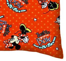 Baby Pillow Case - Minnie Mouse Red