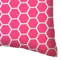 Percale Pillow Case - Hot Pink Honeycomb