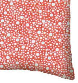 Percale Pillow Case - Confetti Dots Coral