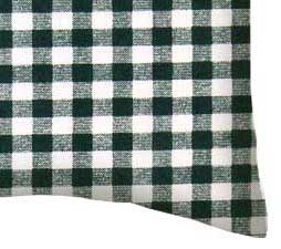 Percale Pillow Case - Hunter Green Gingham Check