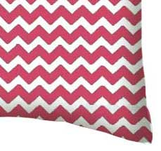 Percale Pillow Case - Hot Pink Chevron Zigzag
