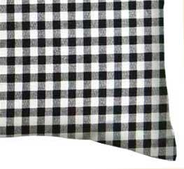 Percale Pillow Case - Black Gingham Check