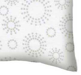 Percale Pillow Case - Grey Dot Circles