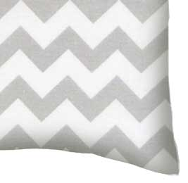 Percale Pillow Case - Grey Chevron Zigzag